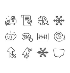 Set technology icons such as quick tips vector