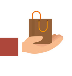 Shopping bag commercial icons vector