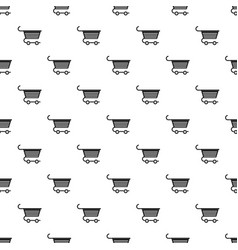 Shopping trolley pattern vector
