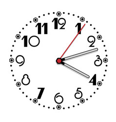 simple black and white clock tithing edition vector image