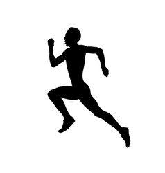 Sprint track male athlete runner vector
