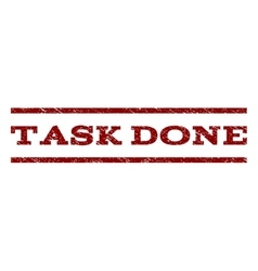 Task Done Watermark Stamp vector