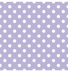 Tile white polka dots on violet background vector image