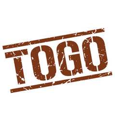 Togo brown square stamp vector