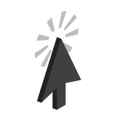 Trace from cursor icon isometric 3d style vector image