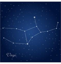 Virgo constellation zodiac vector
