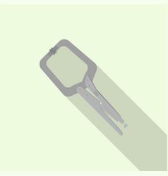 Welder steel minus tool icon flat style vector