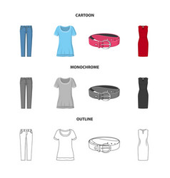 woman and clothing logo vector image
