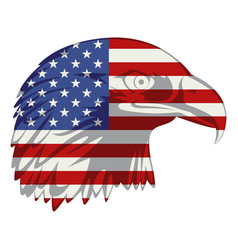 american flag in eagle head vector image