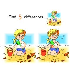 Baby on the sand vector image