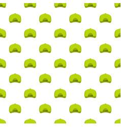 baseball cap back pattern seamless vector image