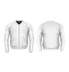 Bomber jacket in white vector