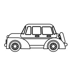 classic car transport speed outline vector image