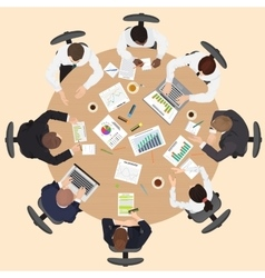 Corporate Business management teamwork meeting and vector image vector image