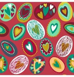 Easter egg seamless pattern vector image