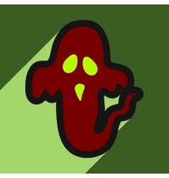 Flat with shadow icon ghost on a colored vector