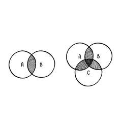 hand-drawn scribble circle diagram vector image