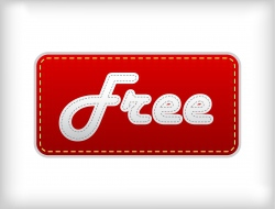 label with free text vector image vector image