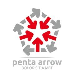 penta arrow design icon symbol star vector image