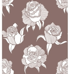 seamless dark background with roses vector image vector image