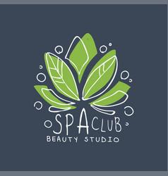 Spa club healthy studio logo template emblem for vector