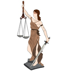 goddess of justice vector image vector image