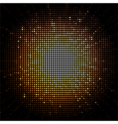 gold starburst mosaic vector image