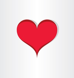 red heart valentine love icon design vector image vector image