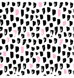 seamless pattern funky paint blots vector image