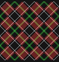 seamless tartan backdrop vector image vector image