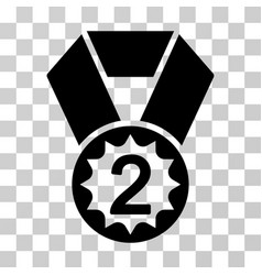 Second place icon vector