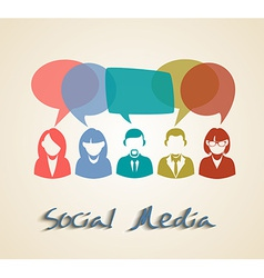 Social media chat people group vector