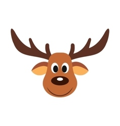 Deer christmas flat icon vector image vector image