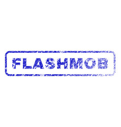 flashmob rubber stamp vector image vector image