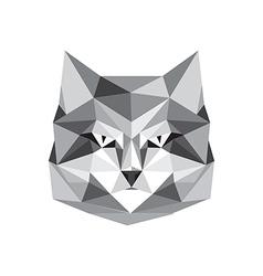 origami cat vector image