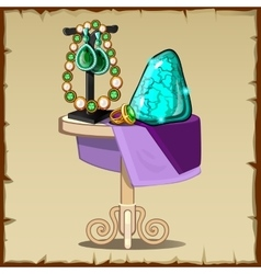 Ornaments of precious stones and jewelry vector image