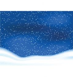 snowy sky vector image vector image