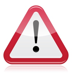 Warning sign exclamation vector image vector image