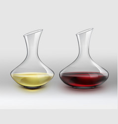 decanters with wine vector image vector image