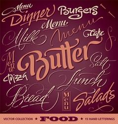 FOOD menu headlines set vector image