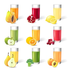 juce in glasses vector image vector image