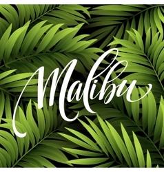 Malibu California handwriting lettering on the vector image vector image