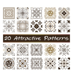 20 Attractive Patterns Art 03 vector image