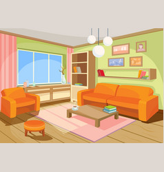 A cozy cartoon interior vector