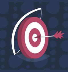 Arrow center board target goal successful strategy vector