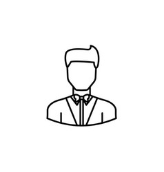 avatar showman outline icon signs and symbols can vector image