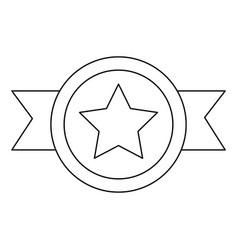 Award badge ribbon star honor vector