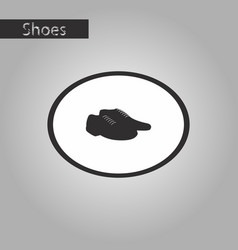 black and white style icon pair of mens shoes vector image