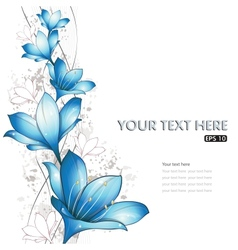 blue lilies design vector image vector image