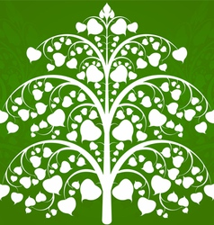 Budhi tree art pattern on a green background vector